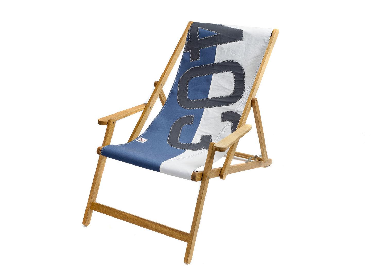 Sedia A Sdraio Tessuto : Sedie a sdraio di legno e tela venezia sedia a sdraio by il