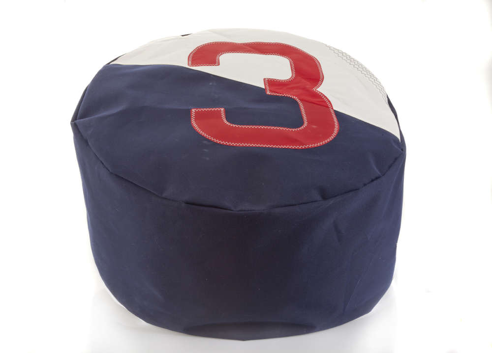 Awesome Double Bean Bag Made Of Recycled Sailcoloth Removable Cover Gmtry Best Dining Table And Chair Ideas Images Gmtryco