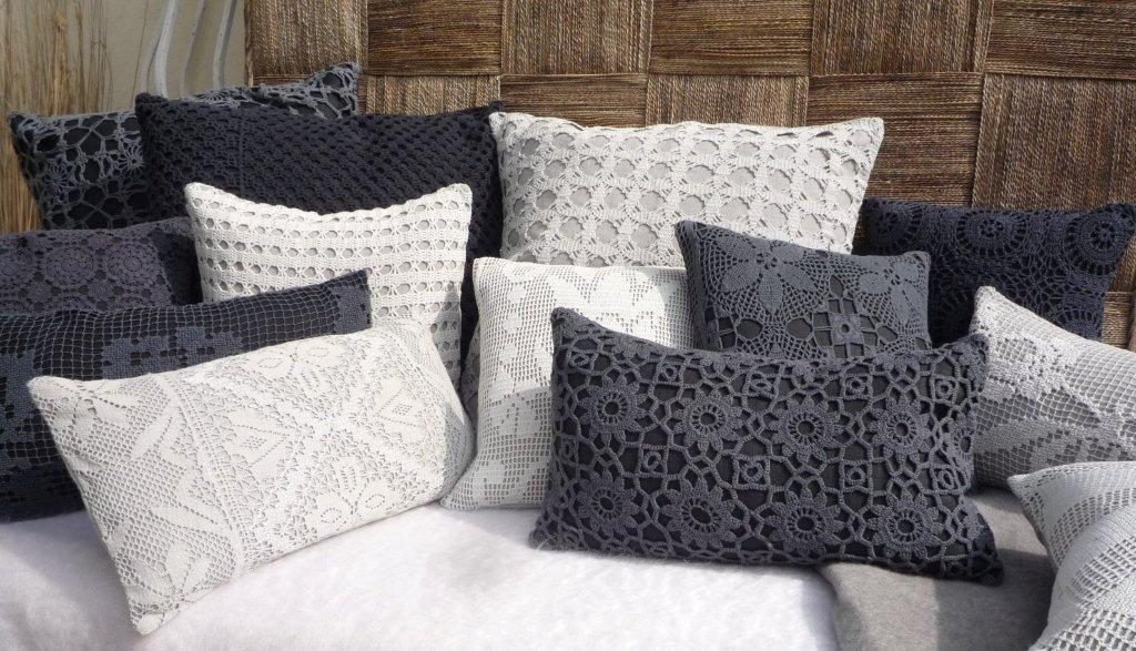 Cuscini 65x65.Cushion 30x50 100 Linen Crochet Lace New Life To Crochet Lace