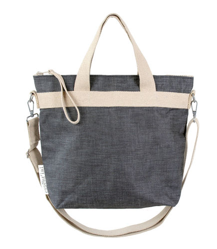 Shoulder  bag in DENIM FABRIC.