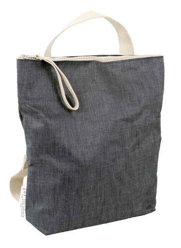 Handle bag / Backpack in DENIM FABRIC.