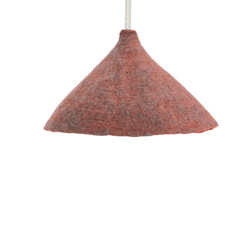 Suspended lamp made in BOILED WOOL - Reversible -