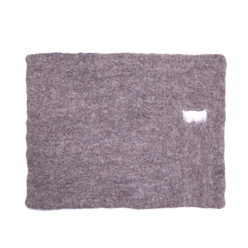 Bicolor place mat with POCKET made in BOILED WOOL.