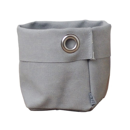 Multipurpose little sack in canvass stone. Grey