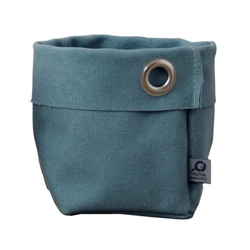 Multipurpose little sack in canvass stone. Turquoise