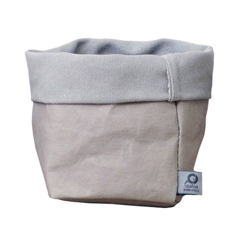Little sack in cellulose fiber and fabric. Grey / Grey