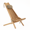 ECO CHAIR made of massive ALDER WOOD with linen pillow.
