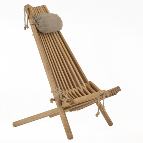 ECO CHAIR made of massive OAK WOOD with linen pillow for more confort.