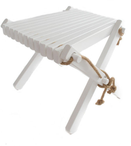 ECO STOOL  ade of massive BIRCH WOOD - WHITE colour -