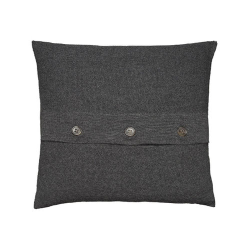 Cushion 50X50 in 100% Llama wool, classic and elegant. ANTHRACITE colour.