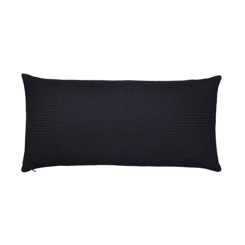 Cushion 30X60 in 100% Llama wool, classic and  timeless. BLACK colour.