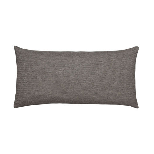 Cushion 30X60 in 100% Llama wool, classic and  timeless. DARK GREY colour.