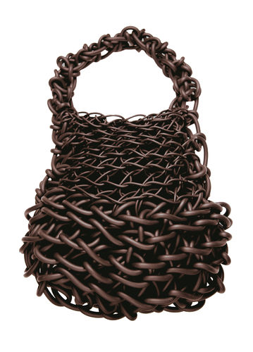 BIG - Shoulder bag in Neoprene yarn. Hand knitted.