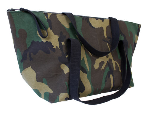 XXXL Big travel bag in CAMOUFLAGE fabric and cellulose fiber.