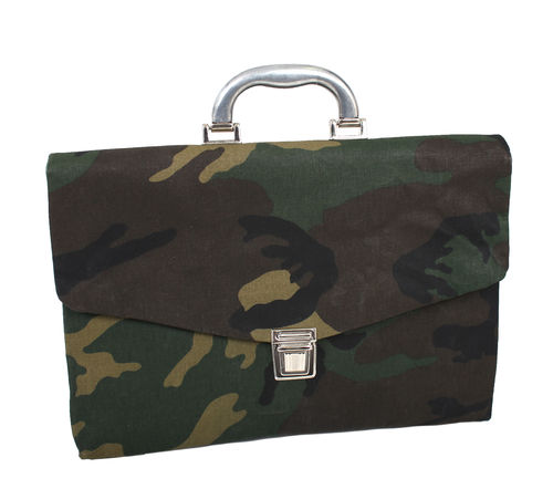 Office case in CAMOUFLAGE FABRIC and cellulose fiber.