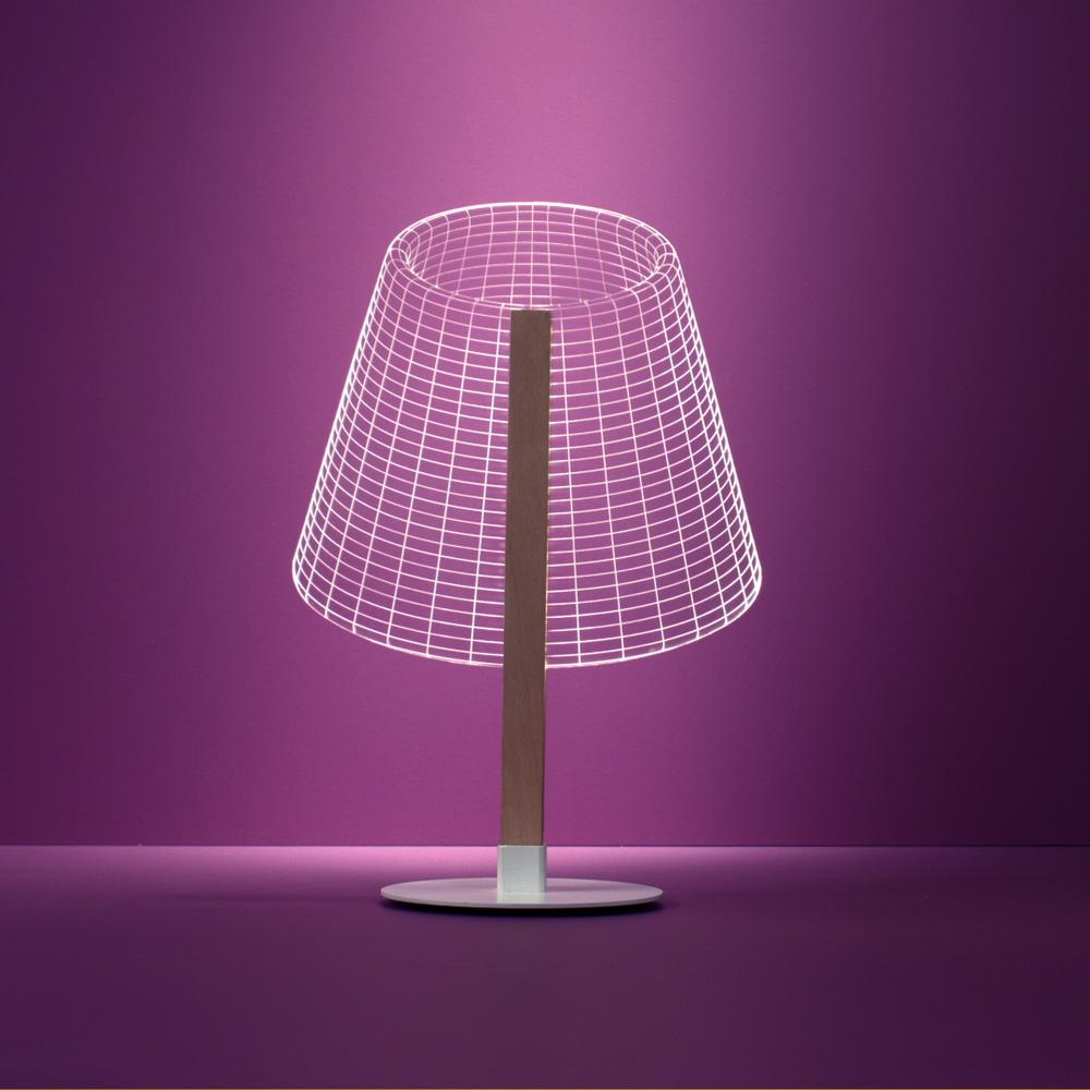 Lampada da tavolo a LED Optical illusion 3D. Disegnata x