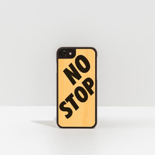 Wood Cover with printed written - NO STOP -