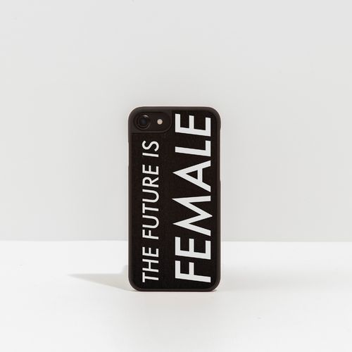 Cover in legno con scritta stampata - THE FUTURE IS FEMALE -