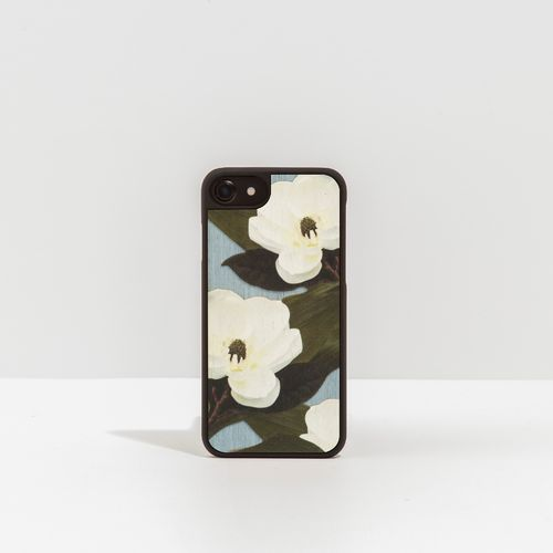Wood Cover with floral pattern - WHITE SPRING -