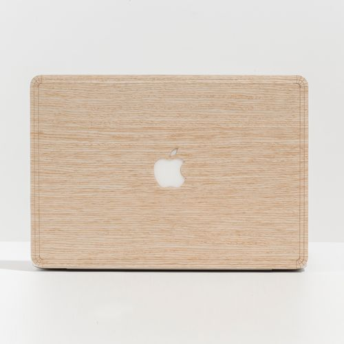 MacBook Skin in Ashwood Wood, hand levigated.