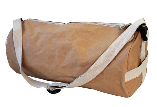 Travel bag Zip Cylinder in thick cellulose fiber. Size XL