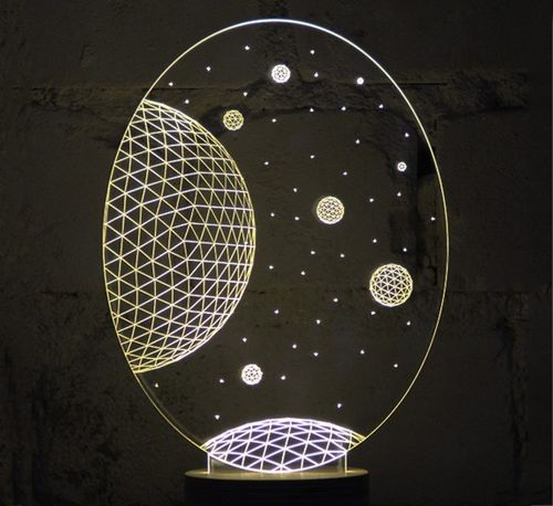 3D Optical Illusion Table Led Lamp.