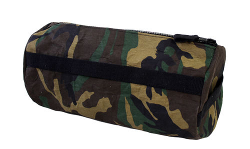 CAMOUFLAGE FABRIC and cellulose fiber Zip Cylinder. Size L