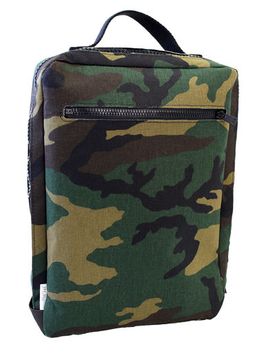 CAMOUFLAGE FABRIC and cellulose fiber Survival bag.