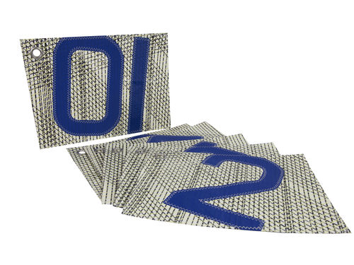 Set of 4 tablemats in recycled sailcloth