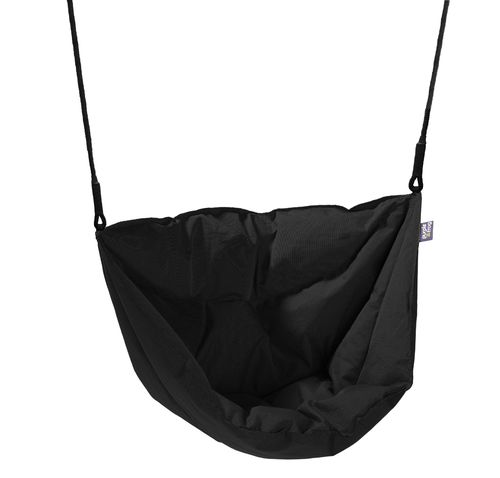 Soft and Cosy Seat Moonboat Swing - Black -