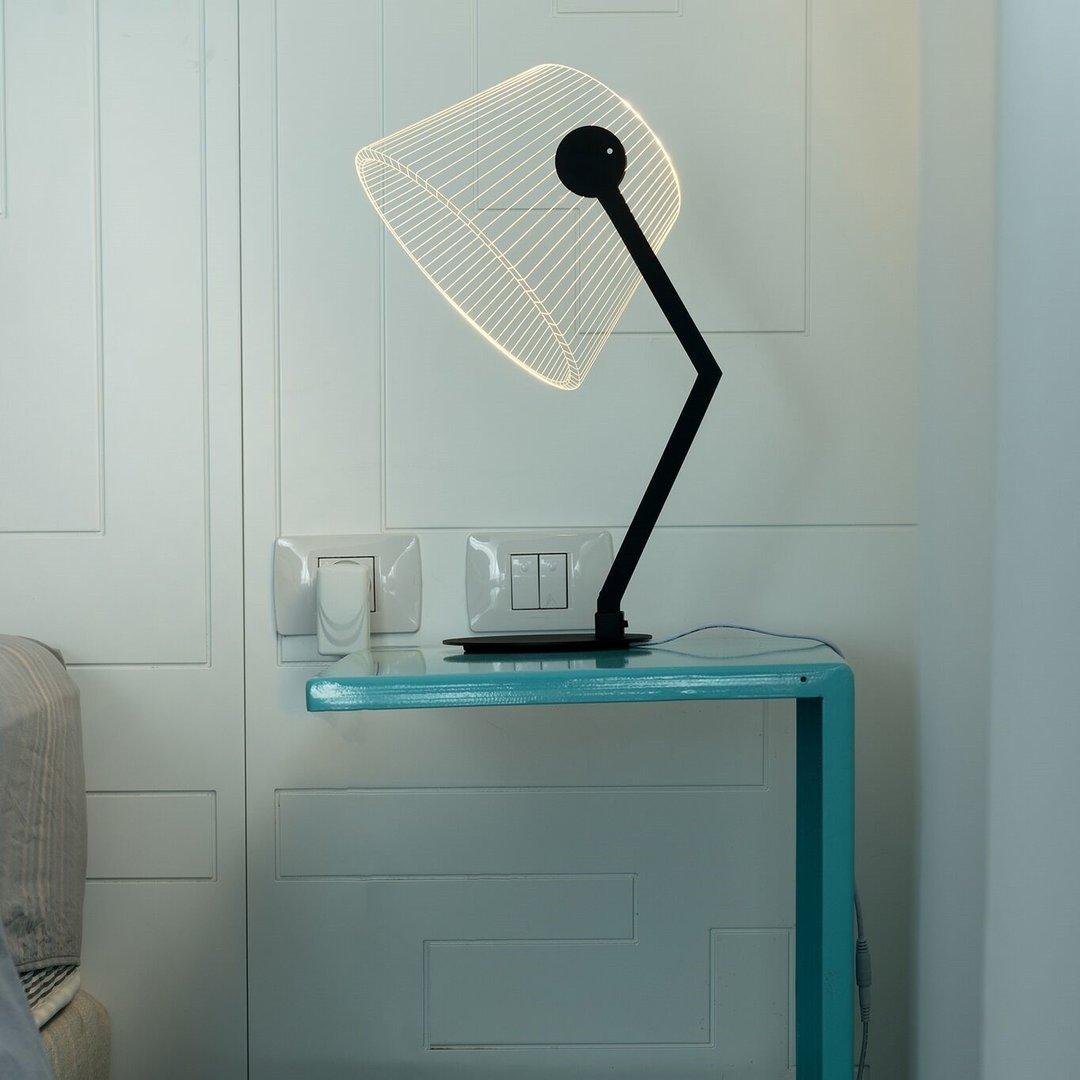 illusion optical table led 3d lamp