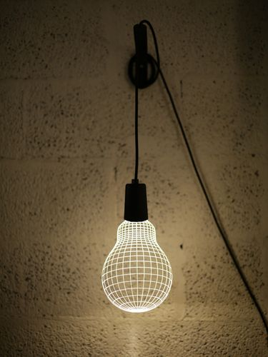 Lampada da parete a LED Optical illusion 3D - OPPO BULB -