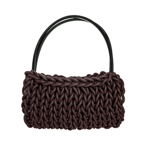 SIMPLE - Bag in Neoprene yarn. Hand knitted.