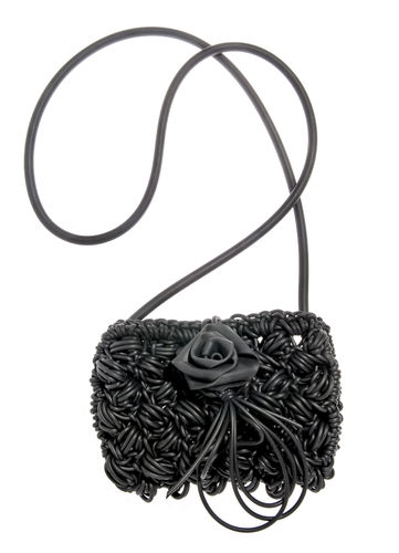 PRETTY - Shoulder bag in Neoprene yarn. Hand knitted.