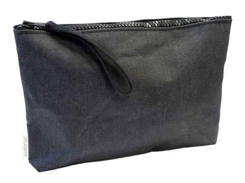 M size multi use case in BLACK DENIM textile.