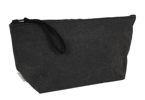 L size multi use pochette in BONDED LEATHER.