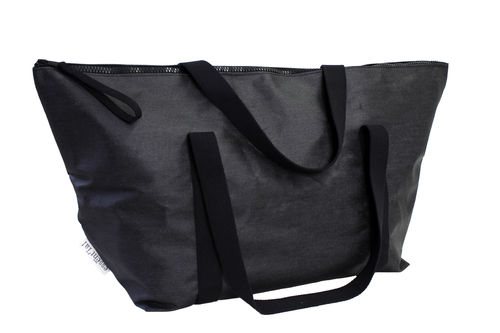 XXXL Big travel bag in BLACK DENIM FABRIC.