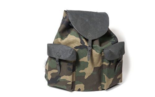Peter round shape backpack, in CAMOUFLAGE FABRIC.