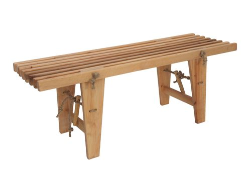 ECO BENCH made of massive ALDER WOOD.
