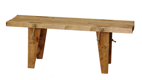 ECO BENCH made of massive BIRCH WOOD.