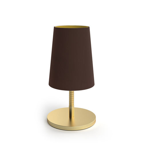 Velvet Shade Table Led Lamp - Chocolate -