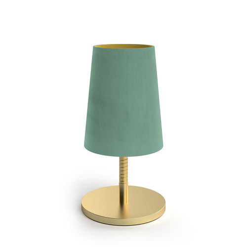 Velvet Shade Table Led Lamp - Green Mint -
