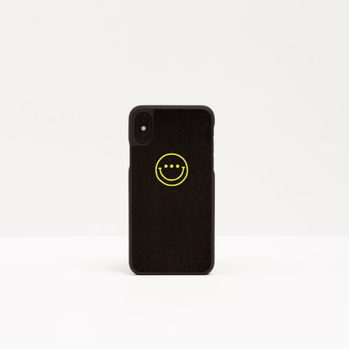 Wood Cover with printed design - YELLOW SMILE -