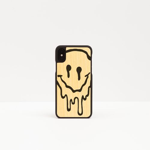 Wood Cover with printed design - MELTED SMILE -