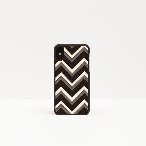 Wood Cover with inlayed decorations - ZIG ZAG -