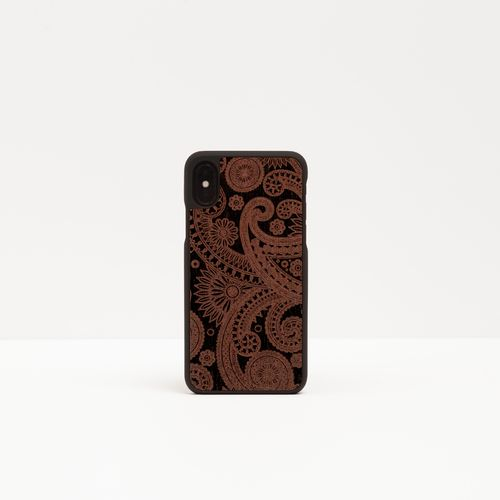 Wood Cover with engreved design - DAMASKED BLACK -