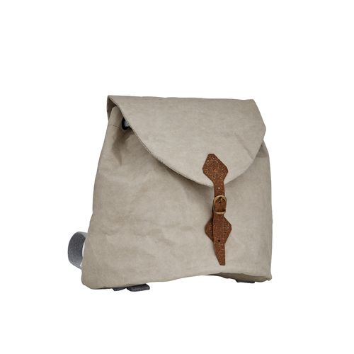 Heidi Small and Round shape backpack in thick cellulose fiber.
