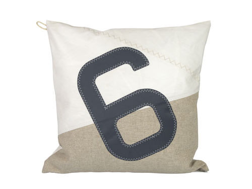 Cushion 50X50 made of recycled sailcloth and LINEN.