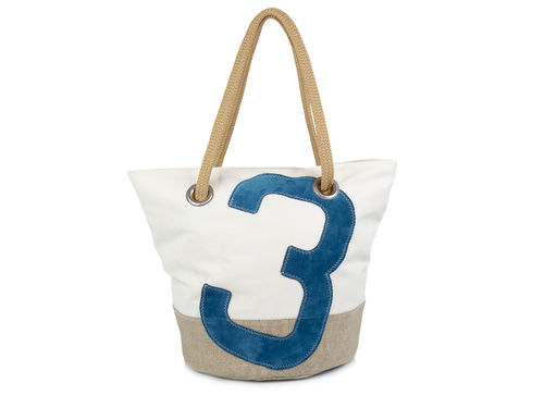 Shopping bag made of recycled sailcloth and LINEN base.
