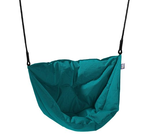 Soft and Cosy Seat Moonboat Swing - Aqua -